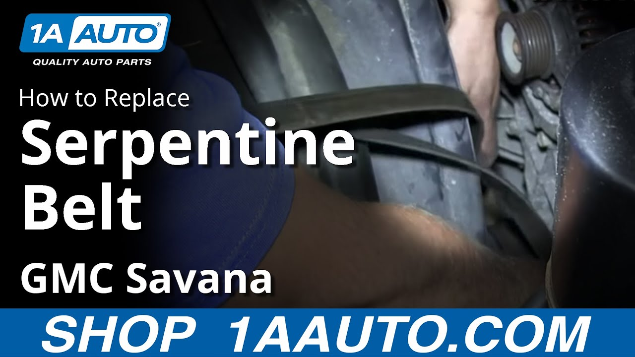How To Install Replace Engine Serpentine Belt Chevy Express Gmc 2001 Chevrolet Silverado 2500 6 0 Vortec Diagram Savana 60l