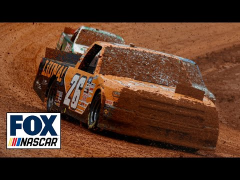 Truck Series drivers have trouble navigating mud in first heat race at Bristol | NASCAR ON FOX