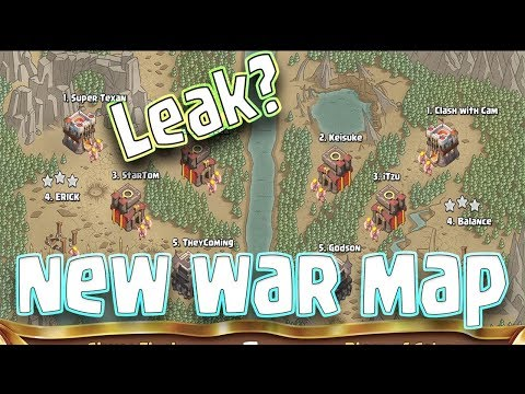 LEAK!!! New War Map In Clash Of Clans September 2017 Update