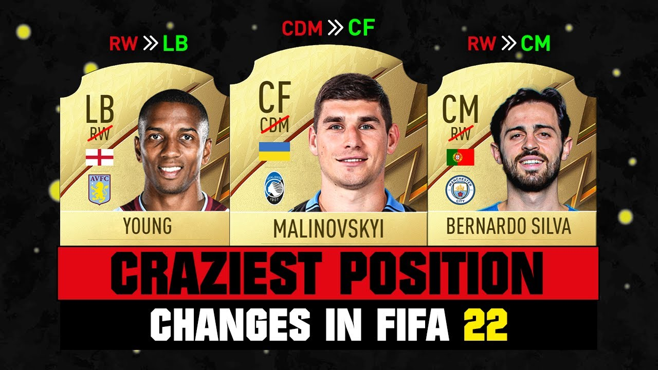 FIFA 22   CRAZIEST POSITION CHANGES IN FIFA 22! 😲😂 ft. B. Silva, Young, Malinovskyi… etc