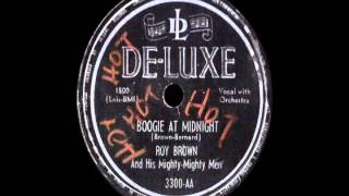 78 RPM: Roy Brown & his Mighty-Mighty Men - Boogie At Midnight