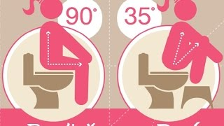 Toilet Squat Stool :  Treat Constipation, Hemorrhoids With Toilet Squat Stool