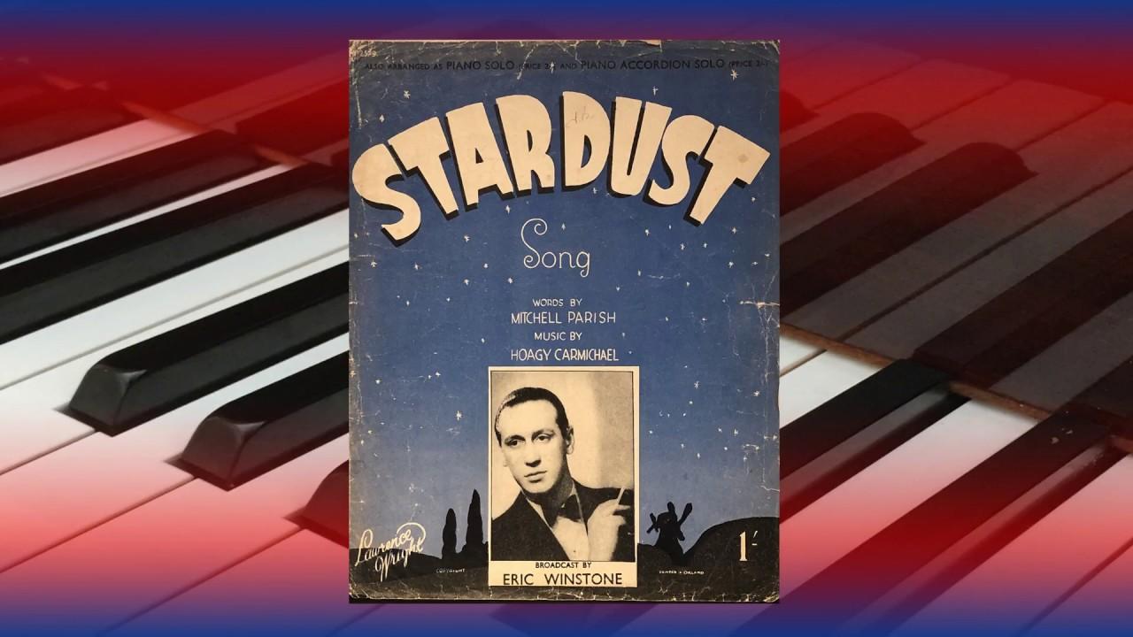 Stardust (Hoagy Carmichael) - Piano Solo - Vintage Sheet Music
