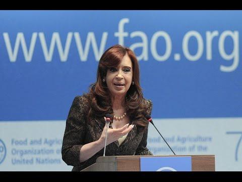 08 de JUN. Disertación ante la 39ª Conferencia de la FAO. Cristina Fernández.