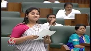 Minsiter Pushpasreevani Pamula Speaks On English Medium In AP Assembly  Telugu News