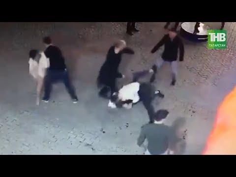 Поход в казанский бар на Баумана для молодоженов закончился дракой с охраной | ТНВ