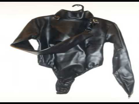 leather straight jackets - YouTube