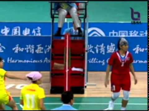 Sepak Takraw(Women's Team A+B) @2010 Asian Games - Thailand vs China (Gold Medal Match) 4/10
