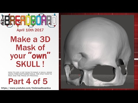 3D printable skull from CT Scan - Details Part 4, Meshmixer