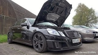 BRABUS E V12 Sedan 800HP - Revs & Dragraces!