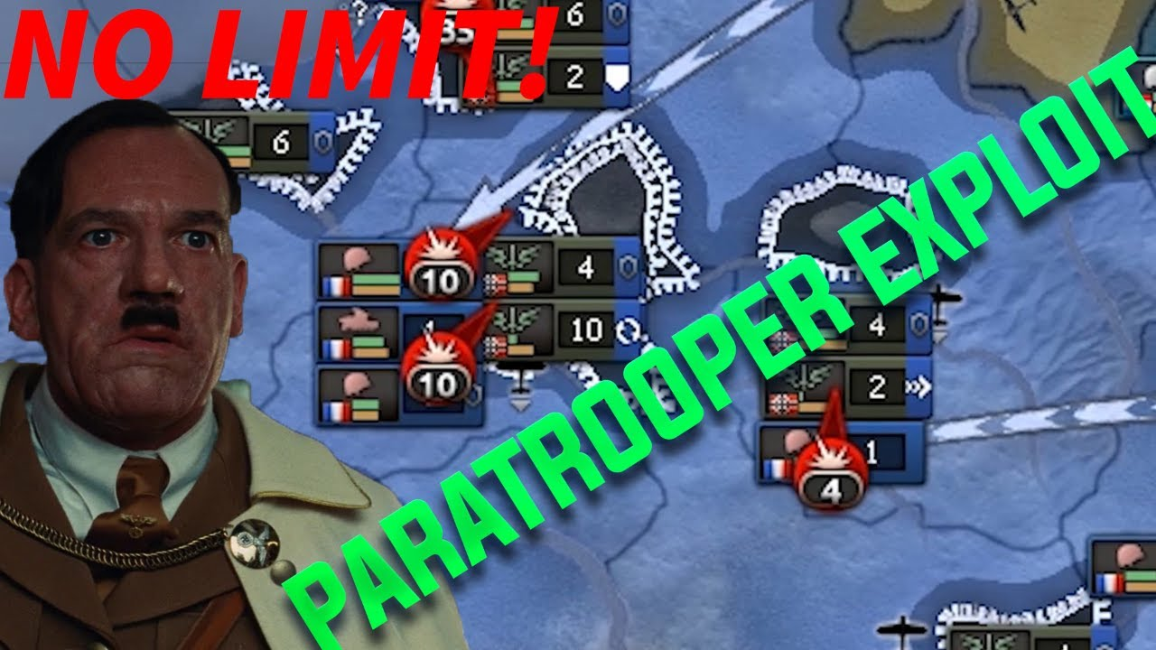 Hearts Of Iron 4 Exploit: Unlimited Paratroopers Exploit (Waking The Tiger  Cheats Exploits hoi4 )