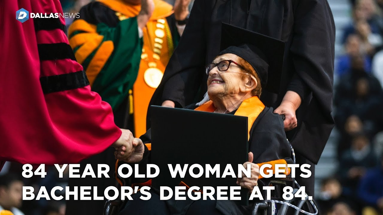 After getting her bachelor's degree at 84, UT Dallas grad pondering her next project
