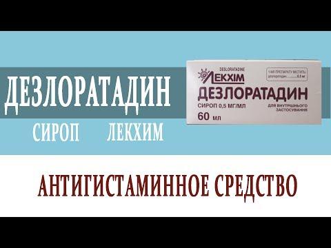 Видеосправочник лекарств ДЕЗЛОРАТАДИН СИРОП