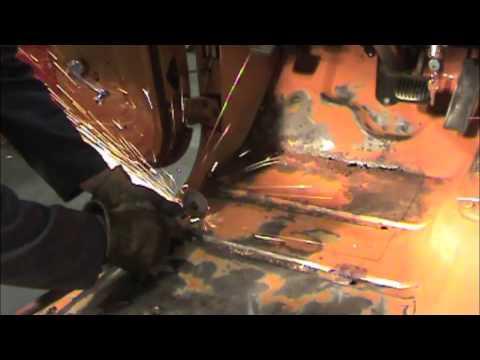 Jeep Floor Pan Rust Repair Video 4 Panel Fitting Youtube