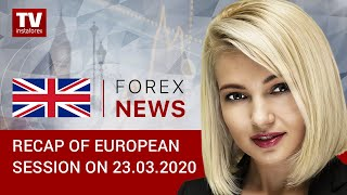 InstaForex tv news: 23.03.2020: EUR and GBP still trading at their lows. Outlook for EUR/USD and GBP/USD