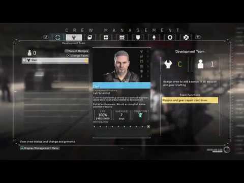 Metal Gear Survive | Crew Management