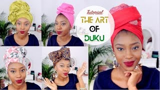 One of FusionofCultures's most viewed videos: Headwrap/Turban Tutorial | 5 Quick & Easy Ways To Tie Your Duku
