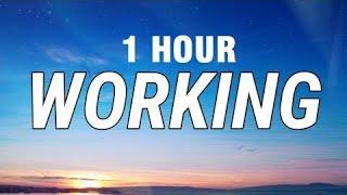 [1 HOUR] Tate McRae, Khalid - Working (Lyrics)