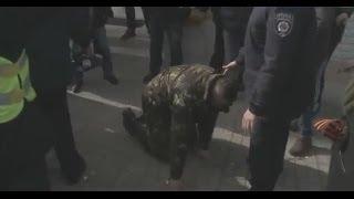 "Керч. Митинг ""БАНДЕРОВЦЕВ"" провалился. Их послали на х...Сожгли американский флаг"