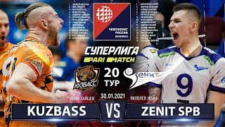 30.01.2021 Kuzbass vs Zenit SPB | Highlights | Men's Volleyball Super League Parimatch