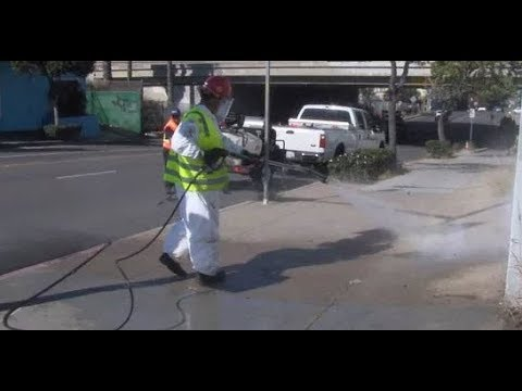Streets Sprayed With Bleach as State Of Emergency Declared In California Hepatitis A Outbreak