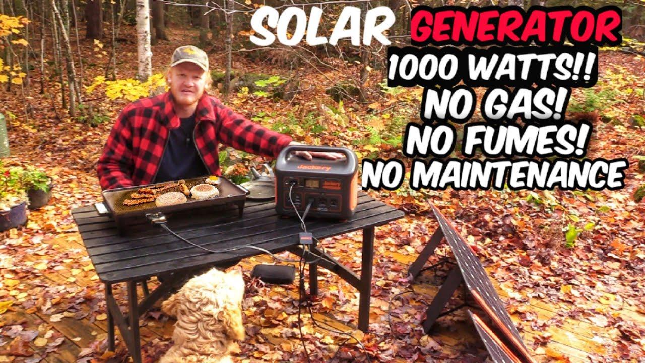Light 1000 Watt Off-Grid Solar Power Station & Generator Jackery Explorer 1000 & SolarSaga 100W