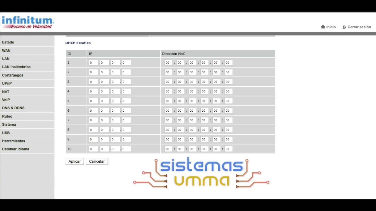 Configurar direcciones IP estáticas en modem Arcadyan VRV7006AW22