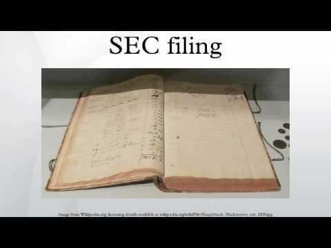 SEC filing