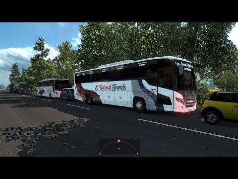 ETS2: Dhaka to Chapai (National Travels Scania Touring)