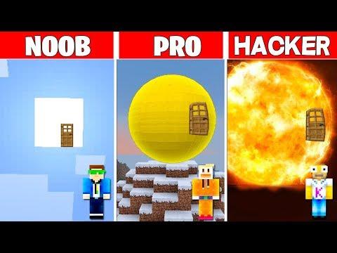 Minecraft NOOB vs PRO vs HACKER: LA CASA DE SOL en MINECRAFT 🌝 thumbnail