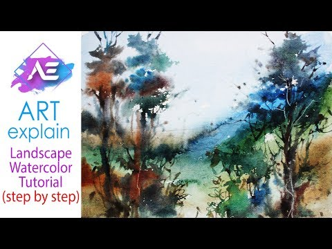 Jungle Watercolor Landscape Painting  Tutorial | How to paint a watercolor landscape | Art Explain