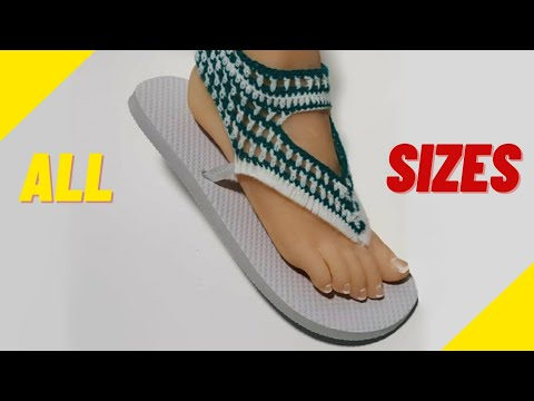 Crochet Sandals Using Flip Flop Soles