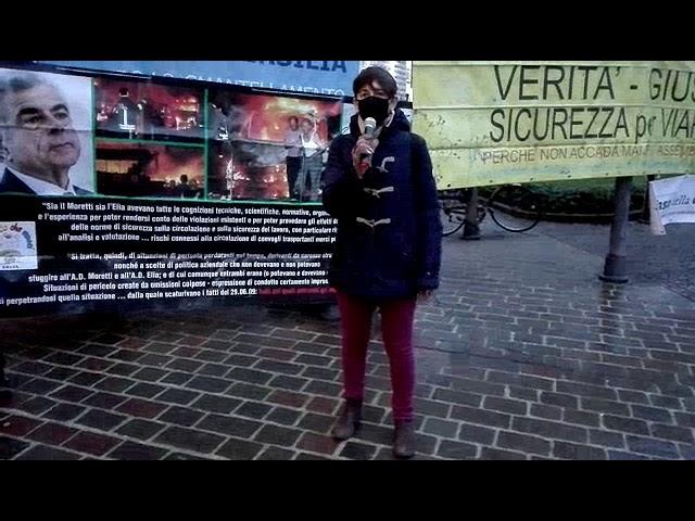 Verità e giustizia per Viareggio, presidio a Pisa 28 gennaio 2021. Intervento di Tiziana Nadalutti