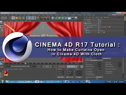 Cinema 4D R17 Tutorial | How to Make Curtains Open  in Ciname 4D With Cloth