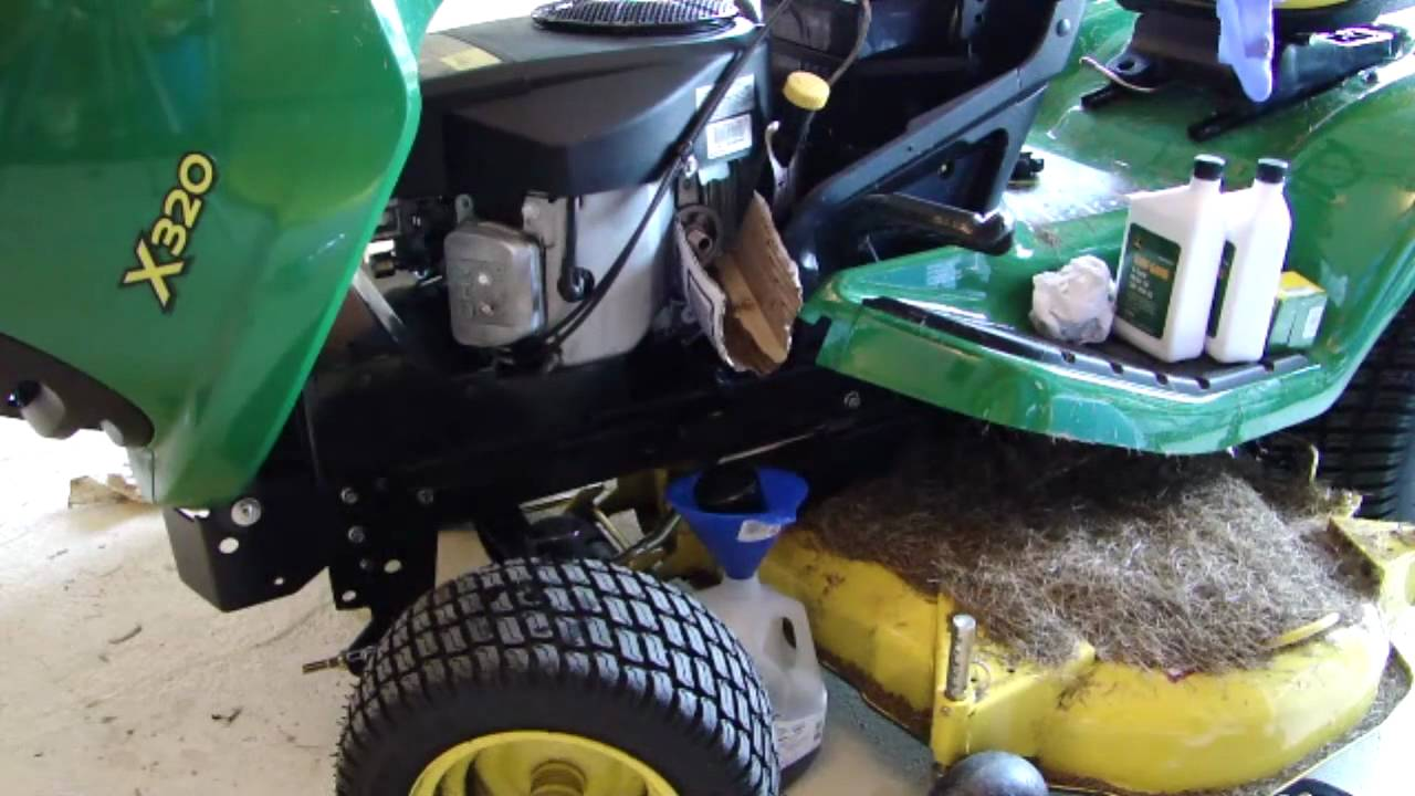 Changing Oil On The Jd X320
