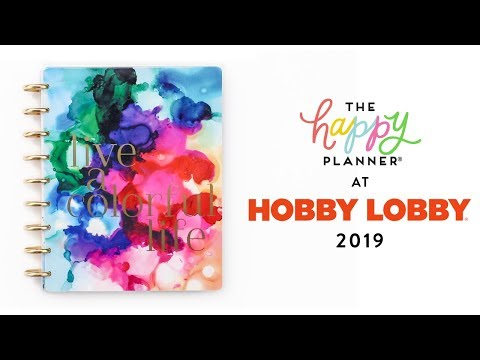 2019 Spring REVEAL! // HOBBY LOBBY 18-Month Happy Planners!