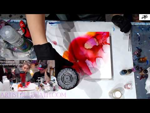 How to paint with Alcohol Ink on Canvas - then top with resin (LIGHTFAST) start to finish