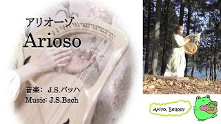 【ライアー, Lyre】バッハのアリオーゾ, Arioso (J.S.Bach) 432Hz, ランベール甲斐 あきよ, Akiyo Lambert-Kai