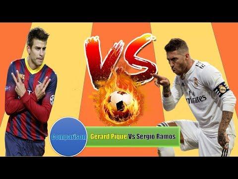 Gerard Pique Vs Sergio Ramos Comparison   Match,Card,Goal,Assist,Award,Trophy & More   Lifestyle 360