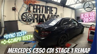 Mercedes Benz C350 CDI Sport (w204) Stage 1 Remap - *DYNO & 0-60 TEST* (Tuned by Certified Remaps)