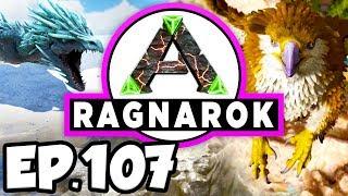 ARK: Ragnarok Ep.107 - OMEGA DRAGON DINOSAURS, ORANGE TRIBE CHIEFTAIN!!! (Modded Dinosaurs Gameplay)