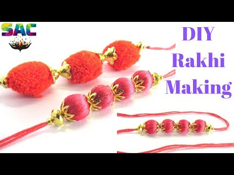 How to Make Rakhi at Home | Dori Rakhi | Rakhi making Tutorial | Rakhi Design 2019 | rakhi for Bhai