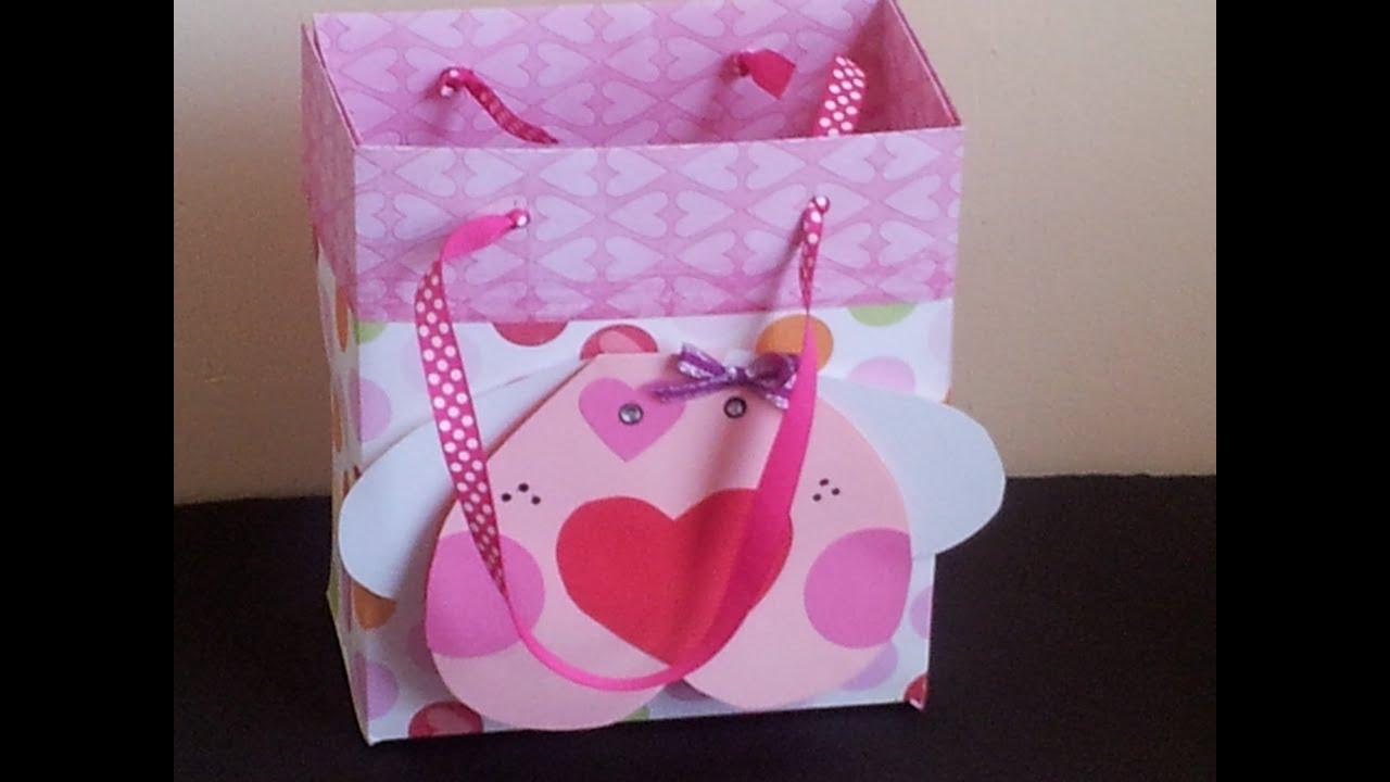 Bolsa para regalo scrapbook facil youtube - Como hacer bolsas de regalo ...
