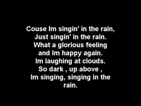 GLEE - Singin' in the Rain / Umbrella Lyrics + Download! (HQ)