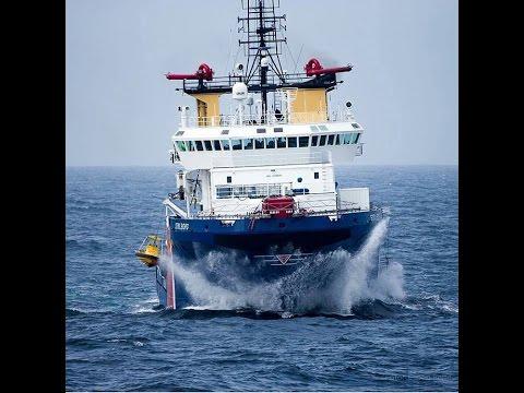 Tanker Ship In  Storm