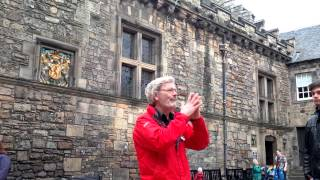 Awesome Tour Guide at Edinburgh Castle