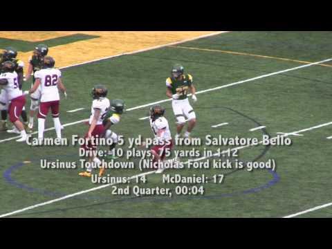 McDaniel vs. Ursinus football highlights
