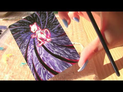 Altered Art Painted Pokemon Card Mewtwo (Timelapse!)