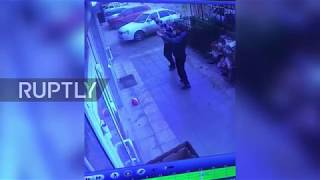 Watch heart-stopping moment passers-by catch Dagestan girl falling from 5th floor