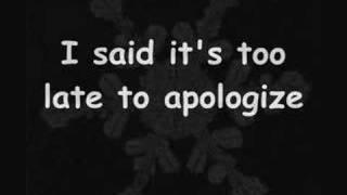 Apologize - OneRepuplic(Lyrics)